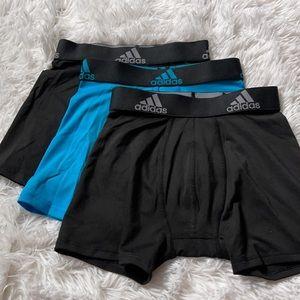 (3) Adidas Boy's Aeroready Underwear Boxer Beief